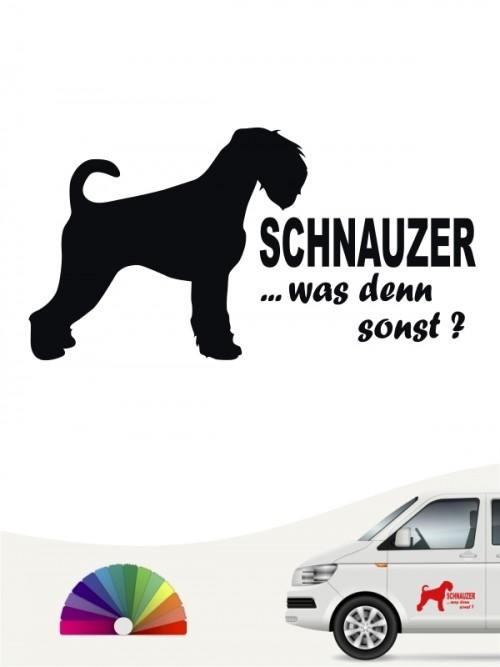 Schnauzer was denn sonst Autosticker von anfalas.de