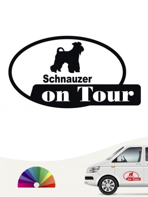 Schnauzer on Tour Hundeaufkleber von anfalas.de