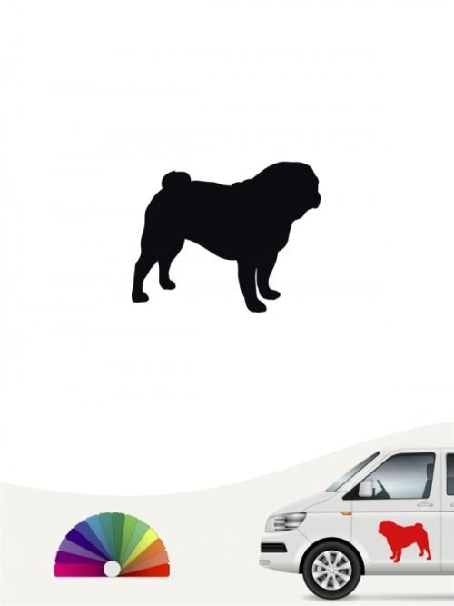 Hunde-Autoaufkleber Mops 1 Mini von Anfalas.de