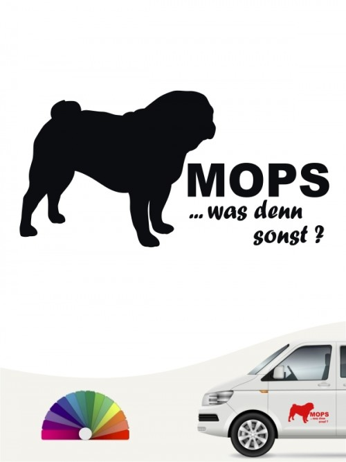 Mops was denn sonst Sticker von anfalas.de