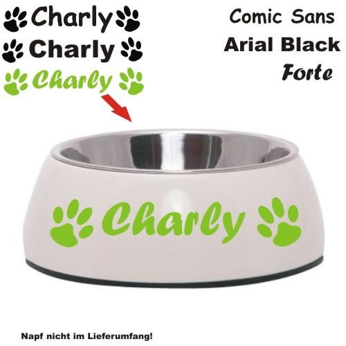 Aufkleber für Hunde und Katzennapf von Anfalas.de