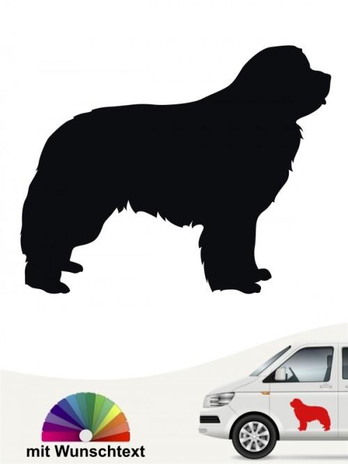 Neufundländer Autosticker mit Wunschtext von anfalas.de