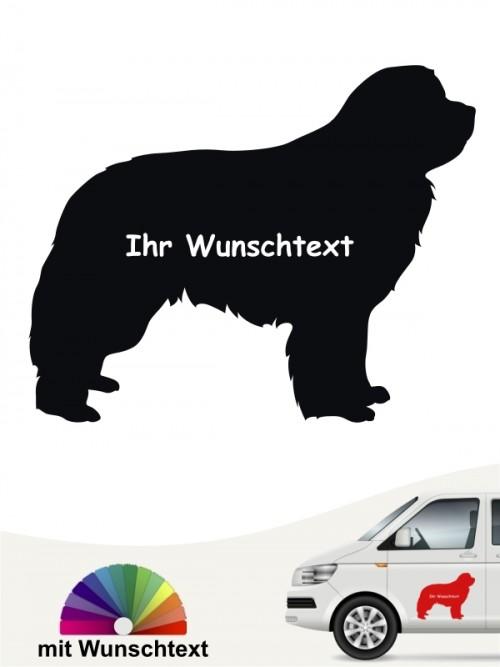 Neufundländer Silhouette Sticker mit Wunschname von anfalas.de
