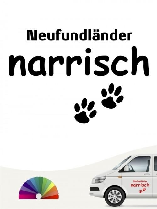 Hunde-Autoaufkleber Neufundländer narrisch von Anfalas.de
