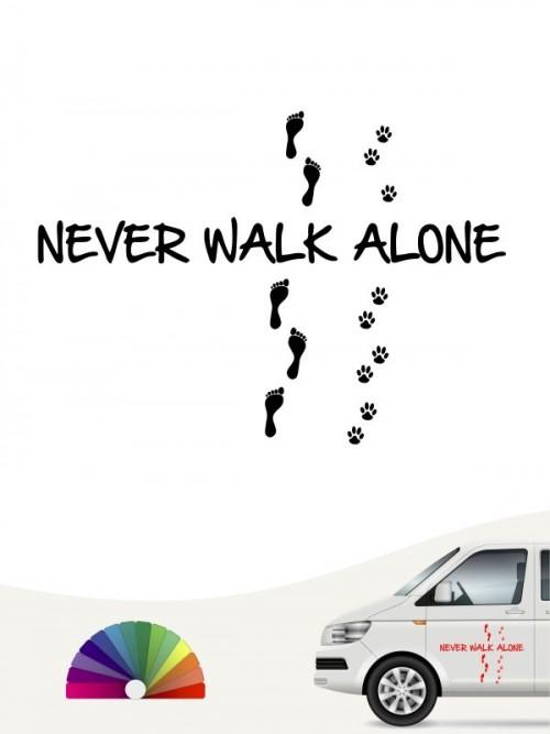 never walk alone Aufkleber mit Wunschtext von anfalas.de