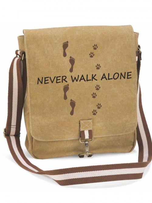 """Canvas-Tasche """"Never walk alone"""" von anfalas.de"""