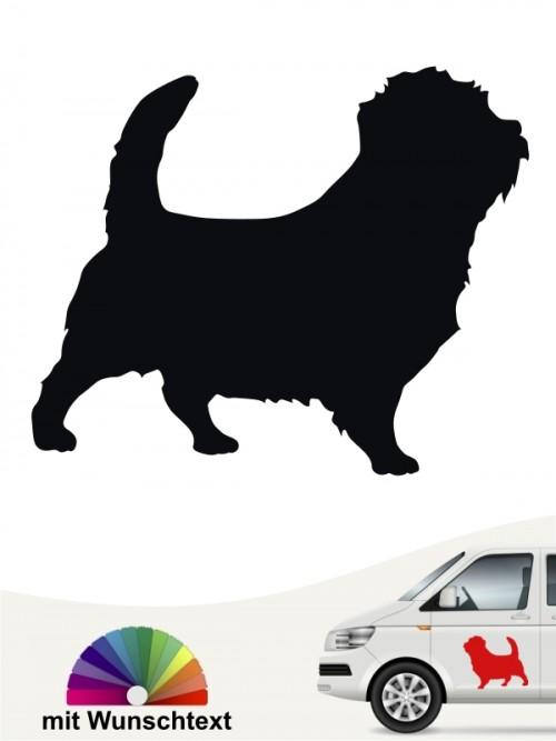 Norfolk Terrier Rassehundeaufkleber mit Wunschtext von anfalas.de