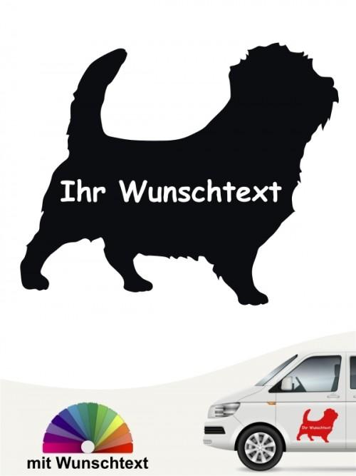 Norfolk Terrier Silhouette Autoaufkleber mit Wunschname von anfalas.de
