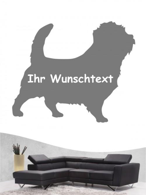 Norfolk Terrier 3 - Wandtattoo