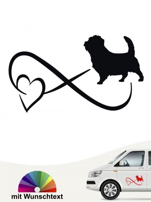 Norfolk Terrier Autoaufkleber von anfalas.de