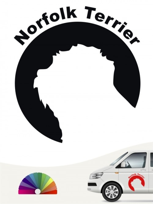 Norfolk Terrier 44 - Aufkleber