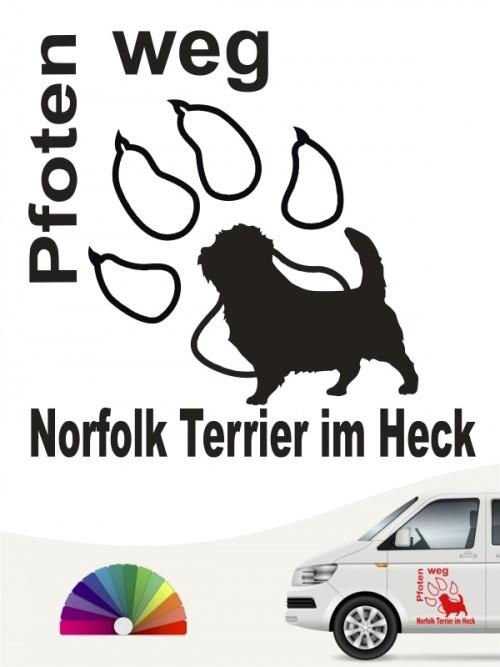 Norfolk Terrier Pfoten weg Sticker von anfalas.de
