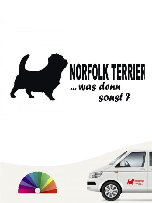 Norfolk Terrier was denn sonst Autosticker von anfalas.de