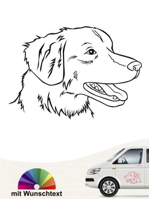 Toller Hundekopf Aufkleber mit Wunschtext von anfalas.de