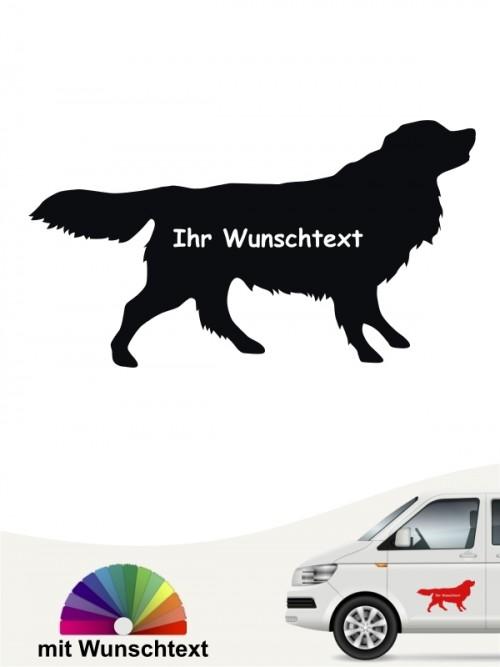 Toller Silhouette Sticker mit Wunschname von anfalas.de