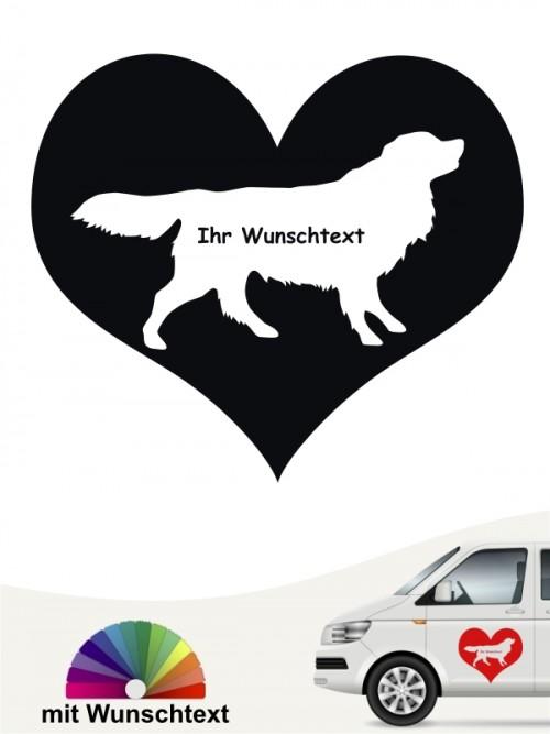 Toller Herzmotiv Autosticker mit Wunschname von anfalas.de