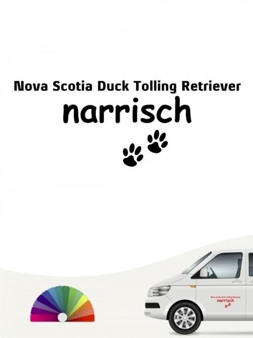 Hunde-Autoaufkleber Nova Scotia Duck Tolling Retriever narrisch von Anfalas.de