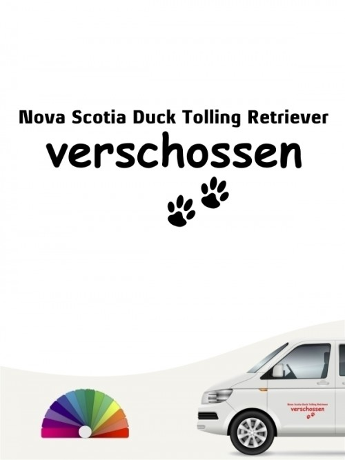Hunde-Autoaufkleber Nova Scotia Duck Tolling Retriever verschossen von Anfalas.de