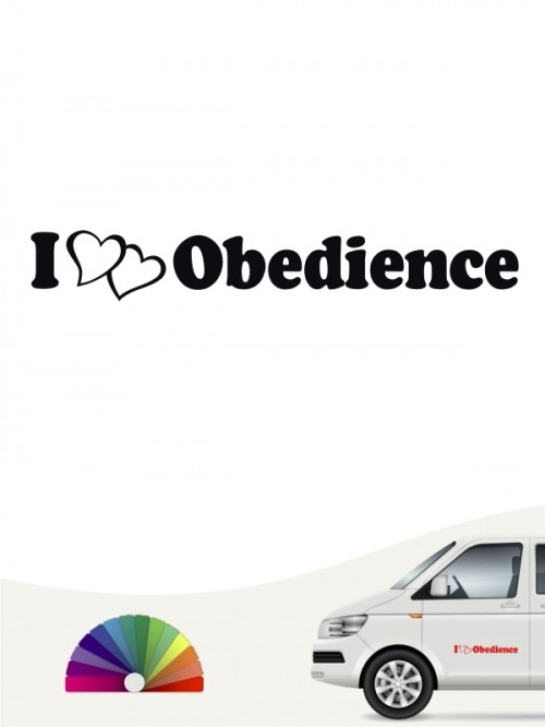 I love Obedience Aufkleber anfalas.de