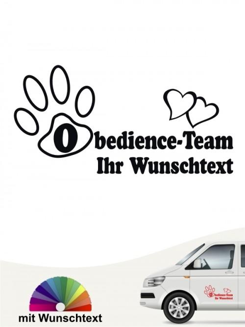 Obedience Team Staffel Aufkleber von anfalas.de