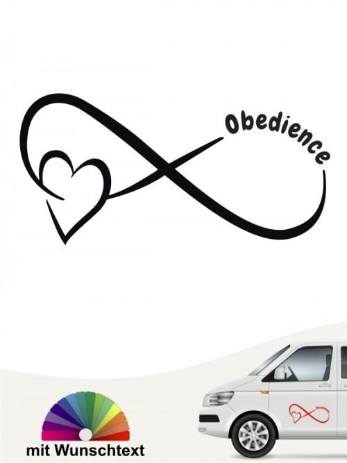 Obedience Team Heckscheibenaufkleber mit Wunschtext von anfalas.de