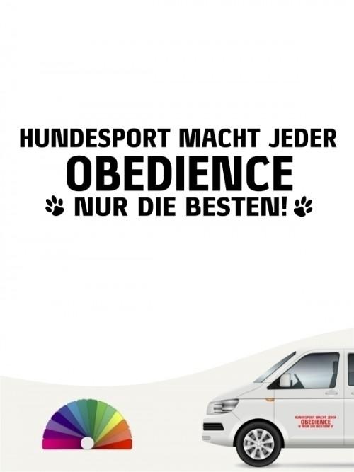 Hunde-Autoaufkleber Obedience nur die Besten von Anfalas.de