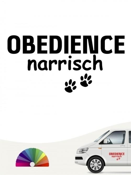 Hunde-Autoaufkleber Obedience narrisch von Anfalas.de