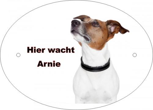 Anfalas.de | Ovales Hundeschild vom eigenen Foto