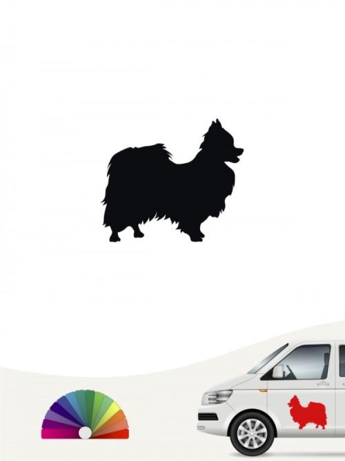 Hunde-Autoaufkleber Papillon 1 Mini von Anfalas.de