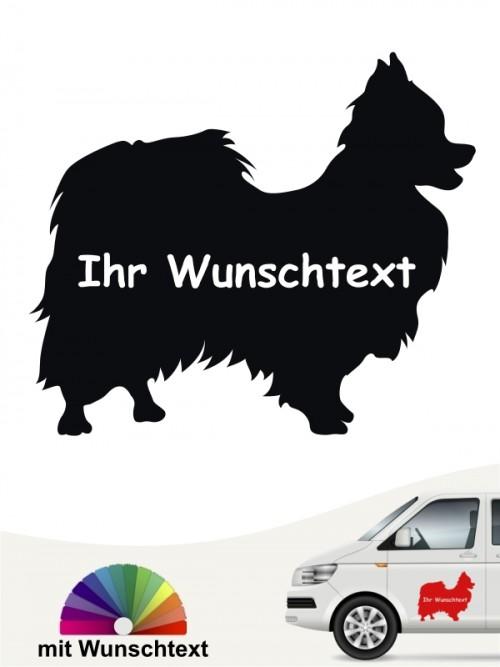 Hunde-Autoaufkleber Papillon 3 von Anfalas.de