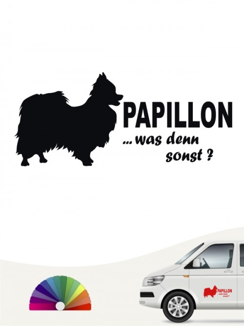 Papillon was denn sonst Sticker von anfalas.de