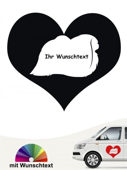 Pekinese Herzmotiv Aufkleber von anfalas.de