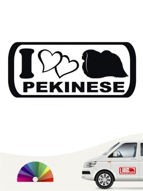 I Love Pekinese Heckscheibensticker von anfalas.de