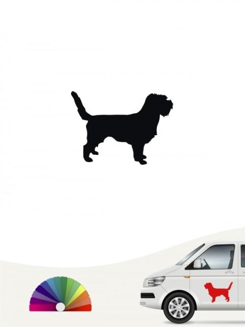 Hunde-Autoaufkleber Petit Basset Griffon 1 Mini von Anfalas.de