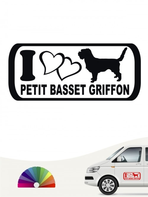 I Love Petit Basset Griffon Sticker von anfalas.de