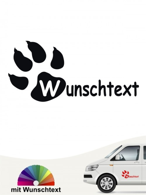 Hunde-Autoaufkleber Pfoten 16 von Anfalas.de