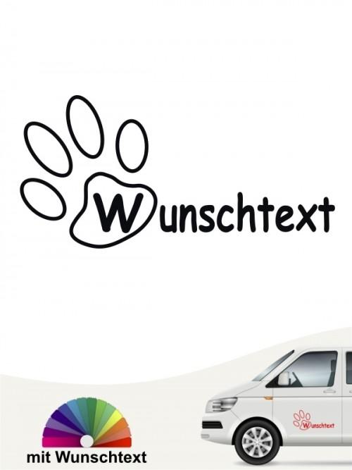Hunde-Autoaufkleber Pfoten 17a von Anfalas.de