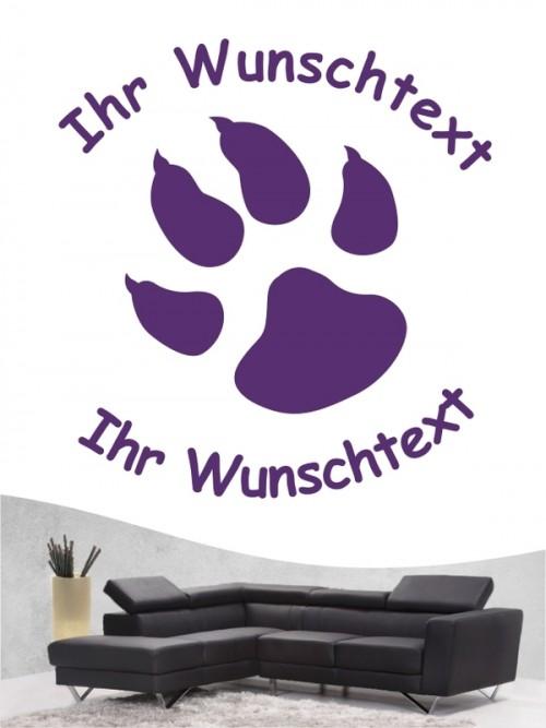 Pfoten 3 Hunde-Wandtattoo von Anfalas.de