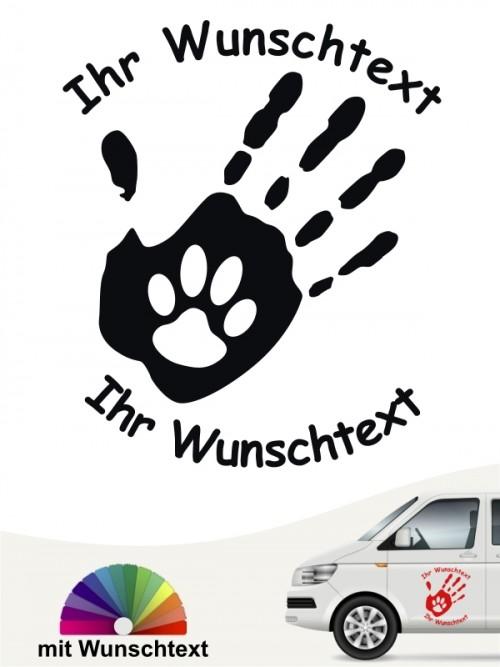 Hunde-Autoaufkleber Pfoten 40 von Anfalas.de