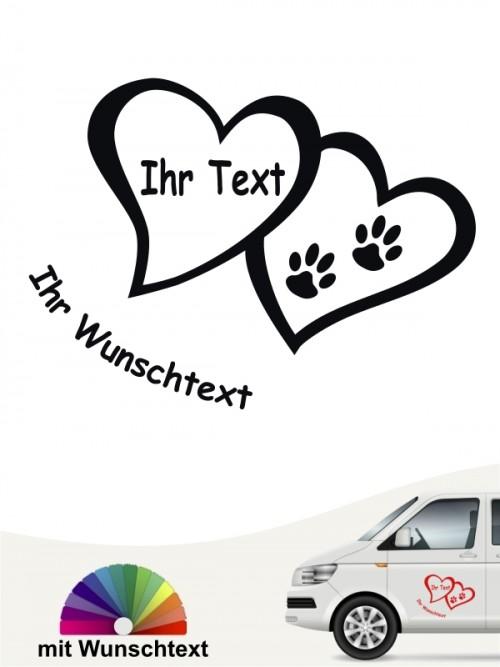 Hunde-Autoaufkleber Pfoten 41 von Anfalas.de