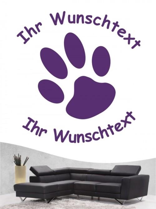 Pfoten 5 Hunde-Wandtattoo von Anfalas.de