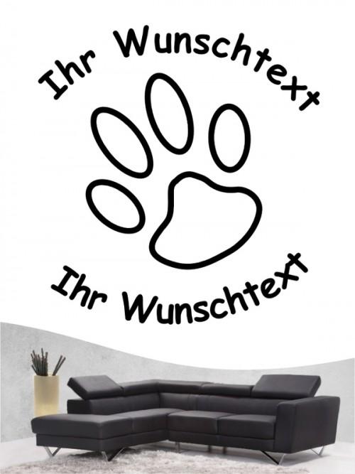 Pfoten 6 Hunde-Wandtattoo von Anfalas.de