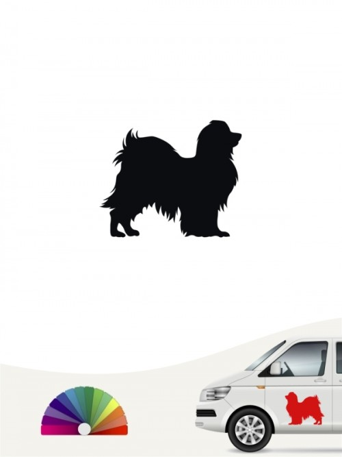 Phalene Hundeaufkleber von anfalas.de