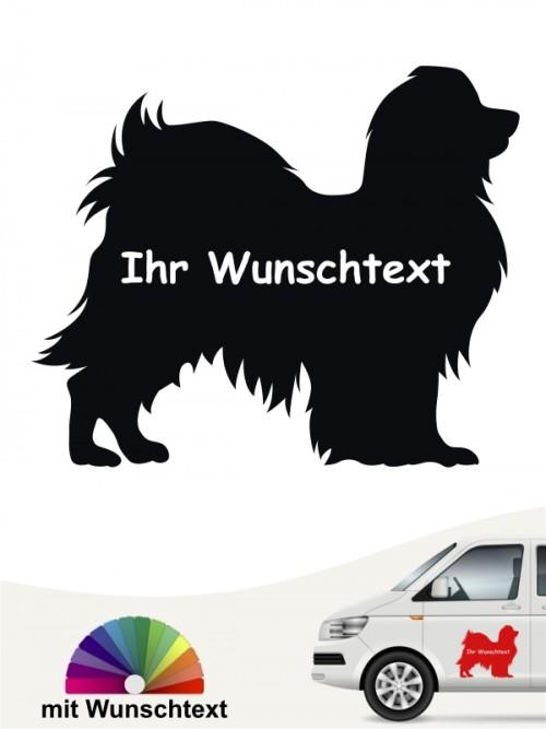 Phalene Rassehundeaufkleber mit Wunschname von anfalas.de