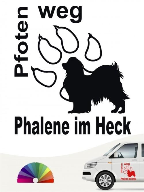 Phalene Pfoten weg Autosticker von anfalas.de