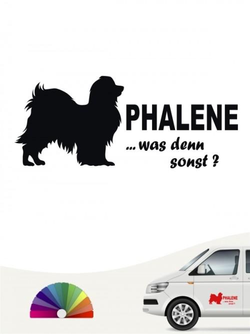 Phalene was denn sonst Heckscheibenaufkleber von anfalas.de