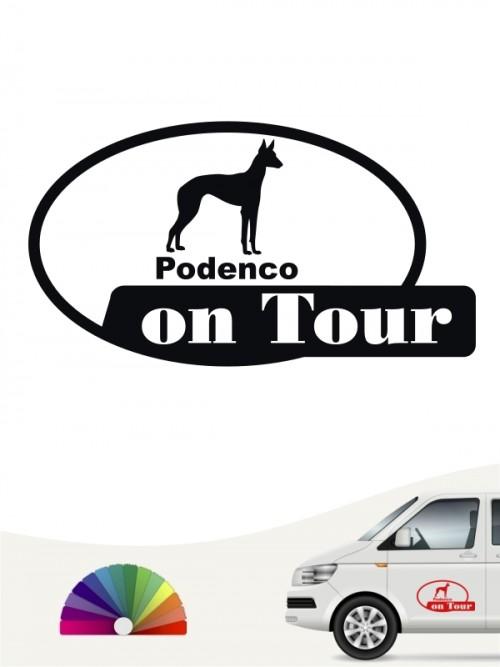 Podenco on Tour Autoaufkleber von anfalas.de