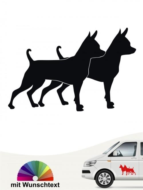 Prager Rattler doppel Silhouette Autosticker von anfalas.de