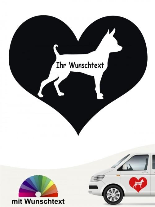 Prager Rattler Herzmotiv mit Wunschname von anfalas.de