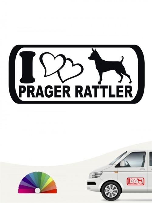 I Love Prager Rattler Hundeaufkleber von anfalas.de